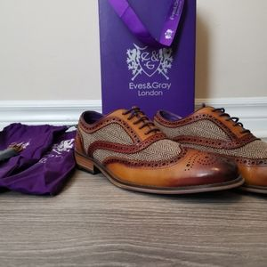 Eve's and Gray Wellesley tan and tweed brogues